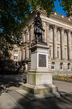 Statue of Samuel Taylor Chadwick in Bolton Lancashire July 2020 写真素材