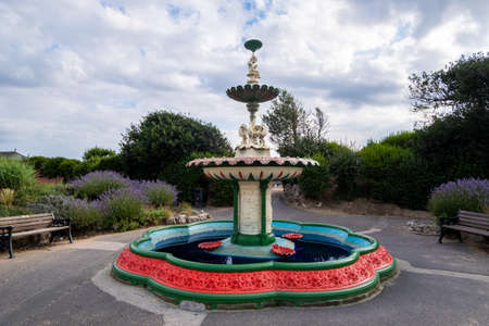 Ornamental fountain on the sea front in St Annes on Sea August 2020