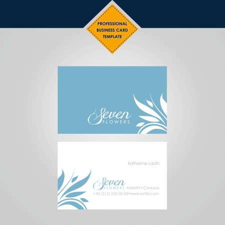 business card: professional business card