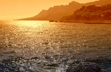 evening sea during  summer season,  sunset Stock Photo - 824204