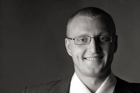 portrait of  businessman on  dark background Stock Photo