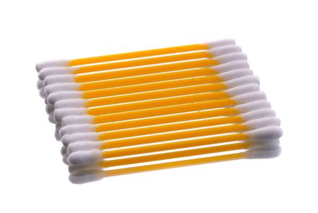 hygienic: hygienic sticks of orange color on  white background