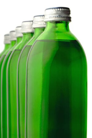 useful: bottle o green color with mineral water isolated  Stock Photo