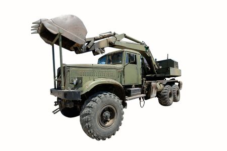 dredge on  basis of  military machine Stock Photo - 1349510