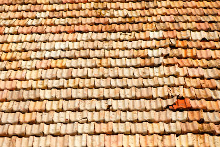 old tile roof photo