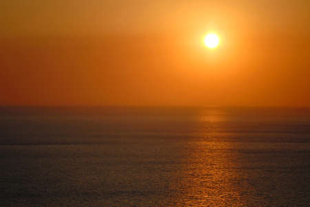 seacoast: sunset in  evening on seacoast