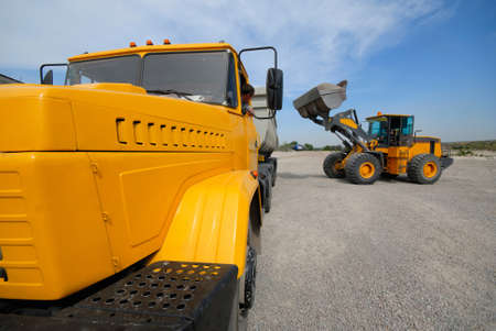 loading of building materials in  lorry  loader Stock Photo - 1716739