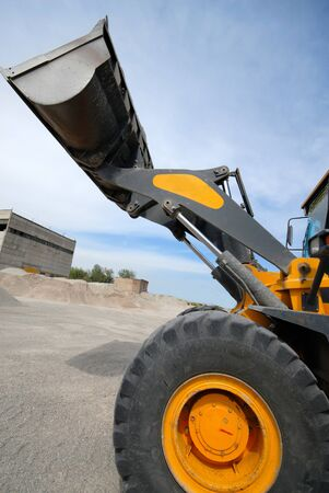 industrial loader delivers building rubble Stock Photo - 1716736