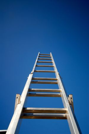 directed: ladder directed to  sky,  close up
