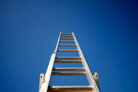 ladder directed to  sky,  close up
