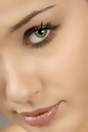 sight, female eye close up Stock Photo