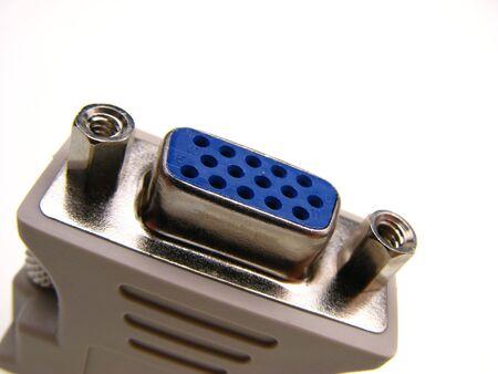 vga: cable VGA a la luz de fondo, cerca