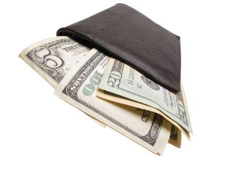 billfold: Dollars in billfold, closeup