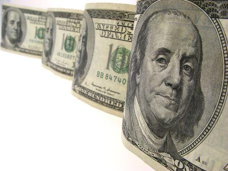 Dollars, closeup