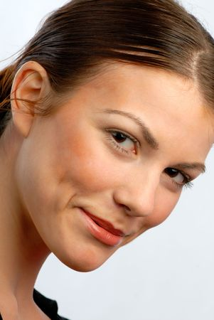 Portrait of  young smiling girl, close up Stock Photo - 2704133