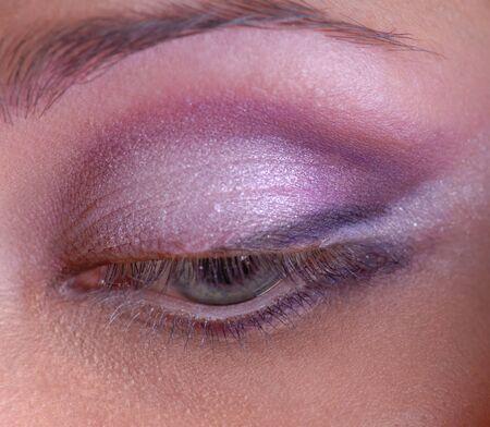 female eye, eyebrow, eye, eyelashes and cosmetics Stock Photo - 4127411