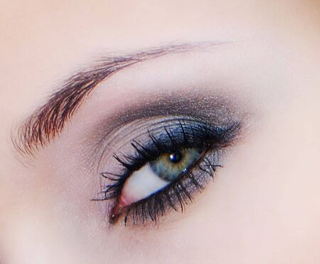Beautiful female eye decorated with cosmetics,  close up Stock Photo - 4605905