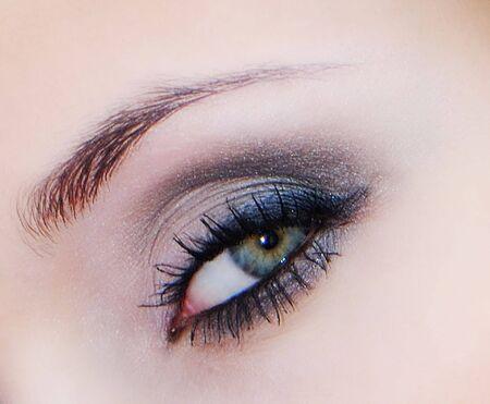 Beautiful female eye decorated with cosmetics,  close up Stock Photo - 4605905