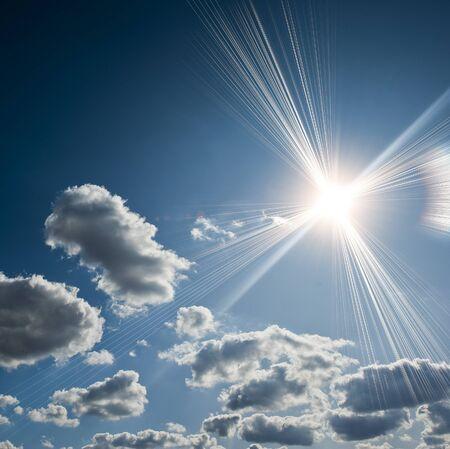 Sun rays photo