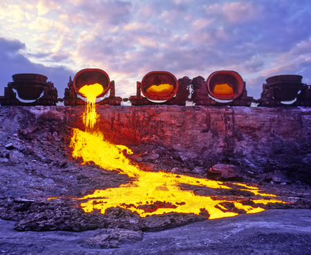 Afvoer van vloeistof, gesmolten slakken - ijzer afval en staalindustrie