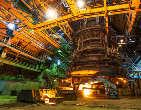 Metallurgical equipment and technology of iron production  Blast furnace  Stock Photo - 26475394