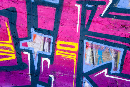 fragments of the surface of bright colors for graffiti, closeup photo