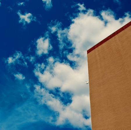 modern apartment building and SAT against the sky, the city sleeping area  photo