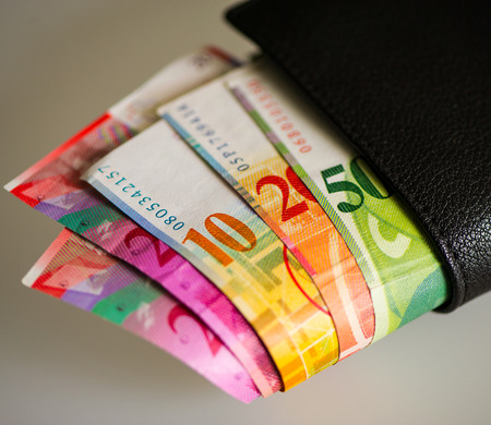 paper notes MONETARY UNIT, Switzerland Stock Photo - 32745168