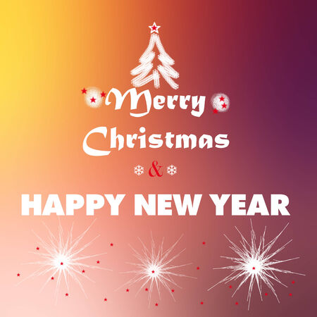 merry christmas and happy new year greetings slogan stock photo picture and royalty free image image 33784617