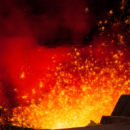 metal casting: Smelting of metal casting, metallurgical production
