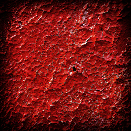 crumbling: surface of the wall is covered with old crumbling paint Stock Photo