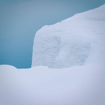 snowdrift: snowdrift against the twilight sky
