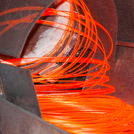 processing speed: metallurgical production, manufacture of metal wire mill