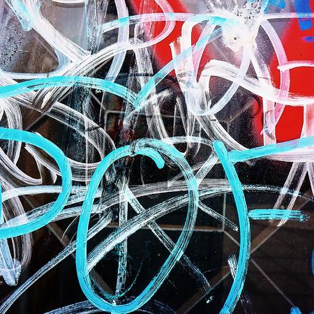grafitis: fragmentos de fotograf�as de graffitis en el entorno urbano