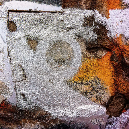 vandal: fragments of pictures of graffiti in the urban environment