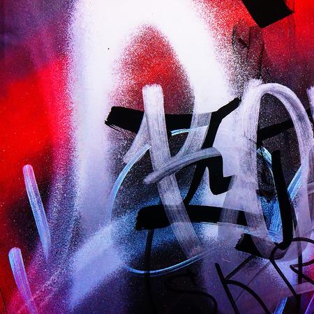 arte moderno: fragmentos de fotografías de graffitis en el entorno urbano