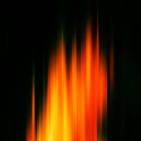 blak and white: Abstract dynamic composition orange and yellow rays on dark background