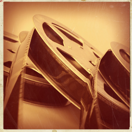 mm: 16 mm reel old movie film archive