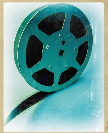 16mm: 16 mm reel old movie film archive