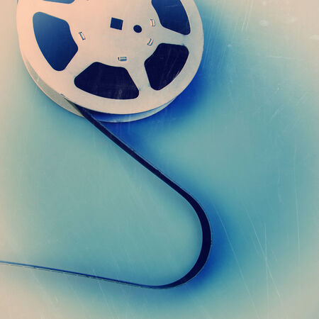 16 mm reel old movie film archive photo
