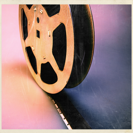 16 mm film reel old archive photo