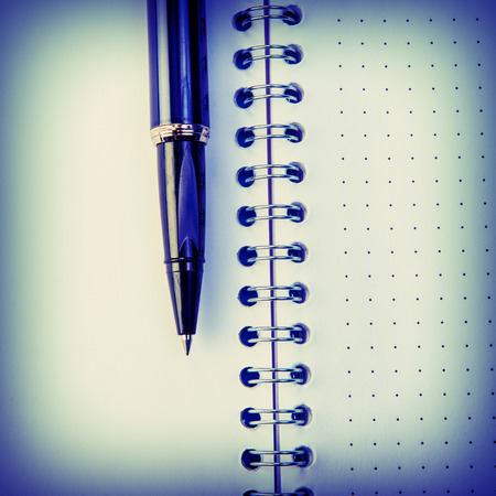 open office: open office notebook and pen