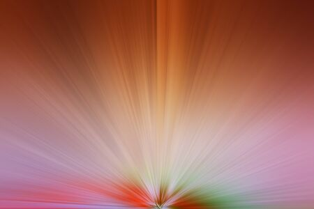 divergent: abstract dynamic composition of divergent color rays Stock Photo