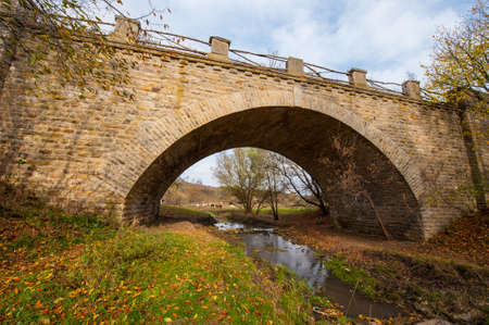 areas: old stone bridge in rural areas