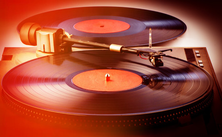 vinyl records: vinyl records and player