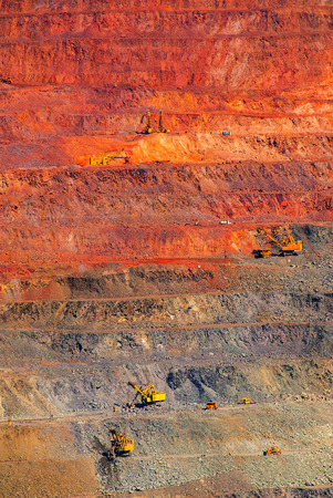 open pit: iron ore open pit mining, quarry