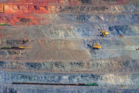 le minerai de fer à ciel ouvert mines, les carrières