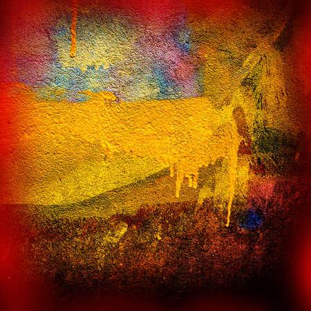 pintura derramada: pintura derramada en las paredes de yeso