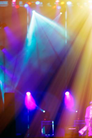 concert lights: blurred background lighting concert stage