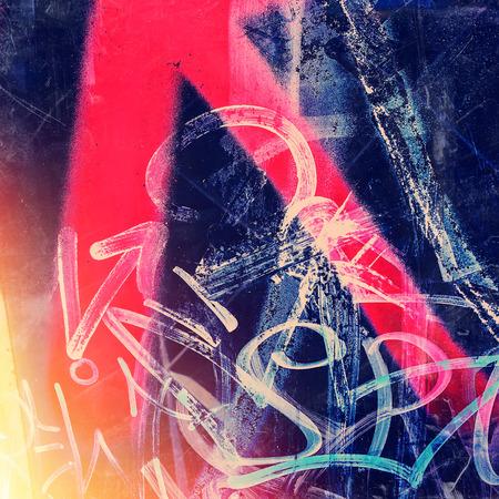 都市環境の落書きの写真の断片
